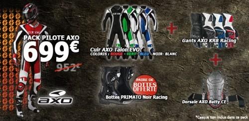 Pack moto - Combinaison, bottes, gants