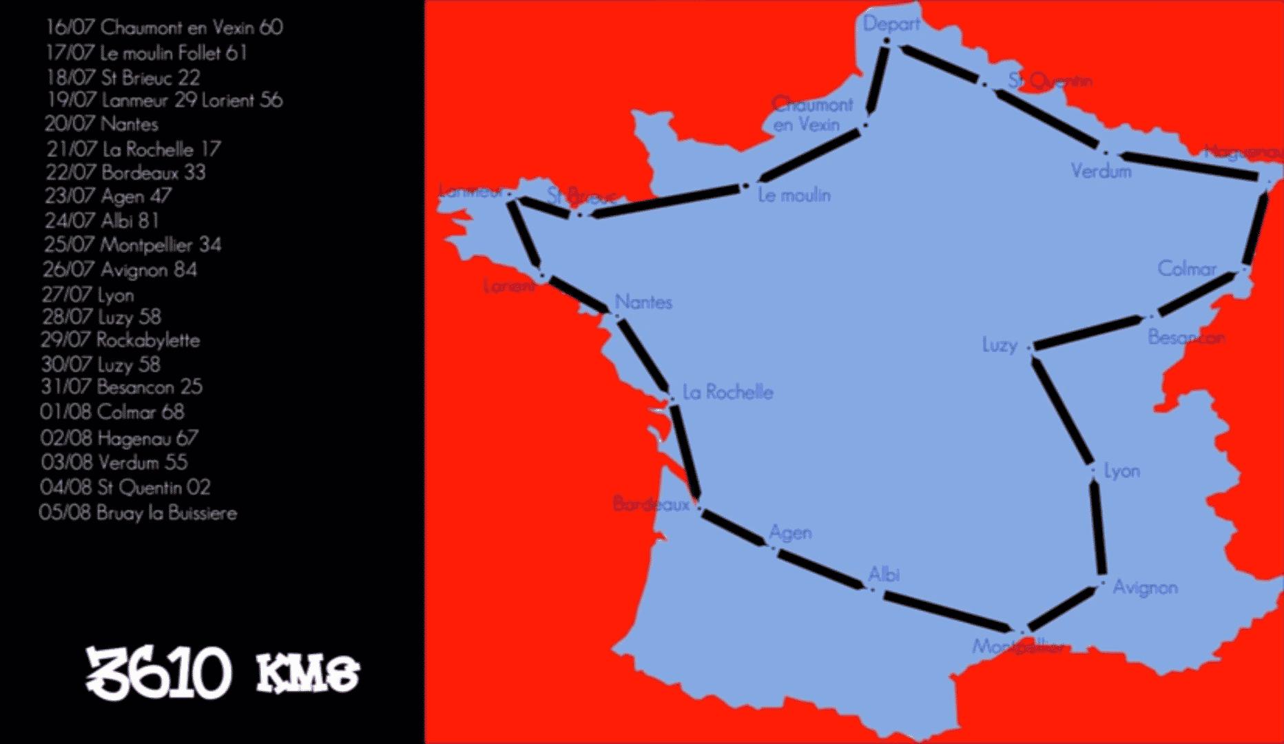Le Mobeur, tour de France en mobylette