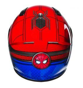 Dos du casque moto spider man
