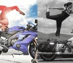 Motorcycle yoga