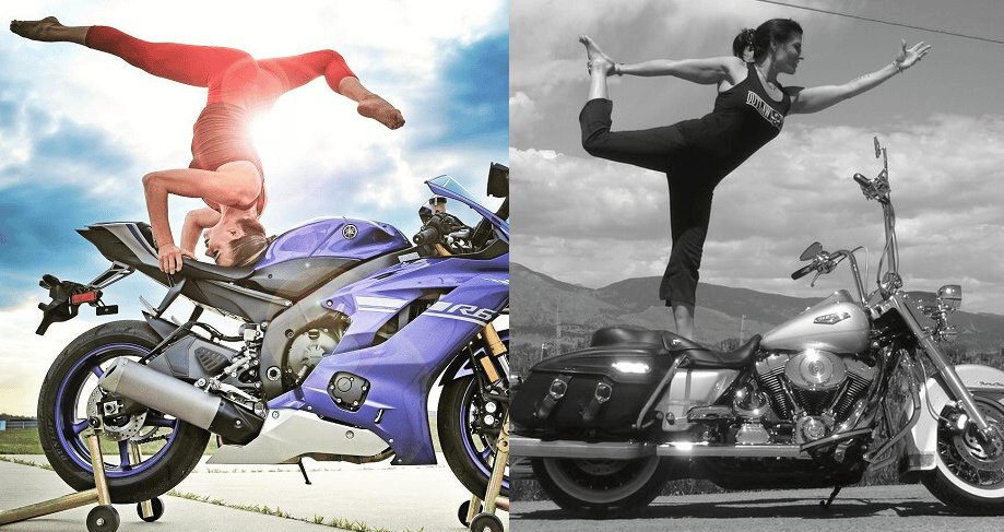 Motorcycle yoga