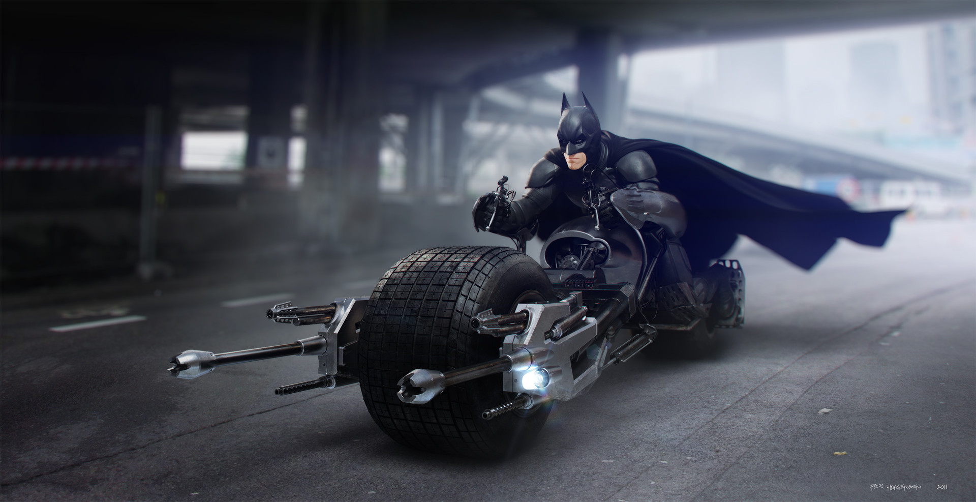 Moto badass The dark knight bat-pod