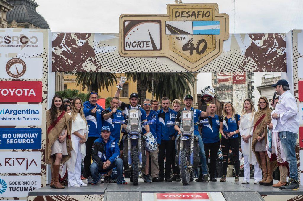 Xavier de Soultrait podium Desafio Ruta 40