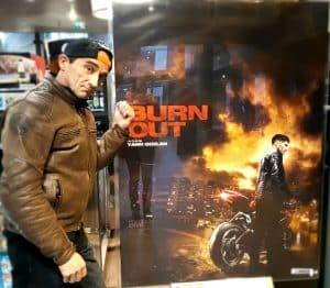 Serge Nuques, cascadeur dans le film moto BURN OUT