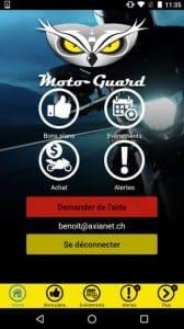 Meilleures applications mobiles à moto : Motoguard