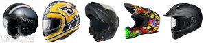 Les différents types de casques moto
