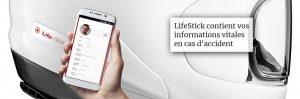 Fiche médicale en cas d'urgence : LifeStick