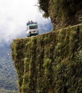 TOP 10 des routes les plus dangereuses : la route des yungas en Bolivie