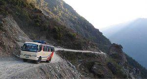 TOP 10 des routes les plus dangereuses : Route de Katmandou vers l'Himalaya au Nepal