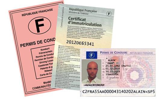 Infractions liées au permis de conduire et à la carte grise