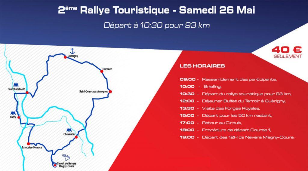 12h de Nevers Magny-Cours : rallye touristique