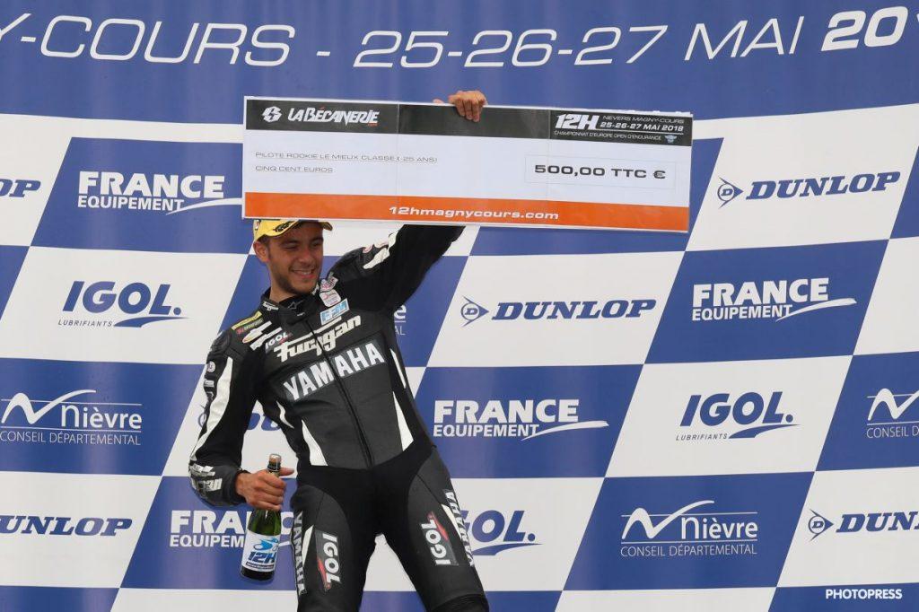 Johan Nigon, meilleur rookie aux12h de Nevers Magny-Cours 2018