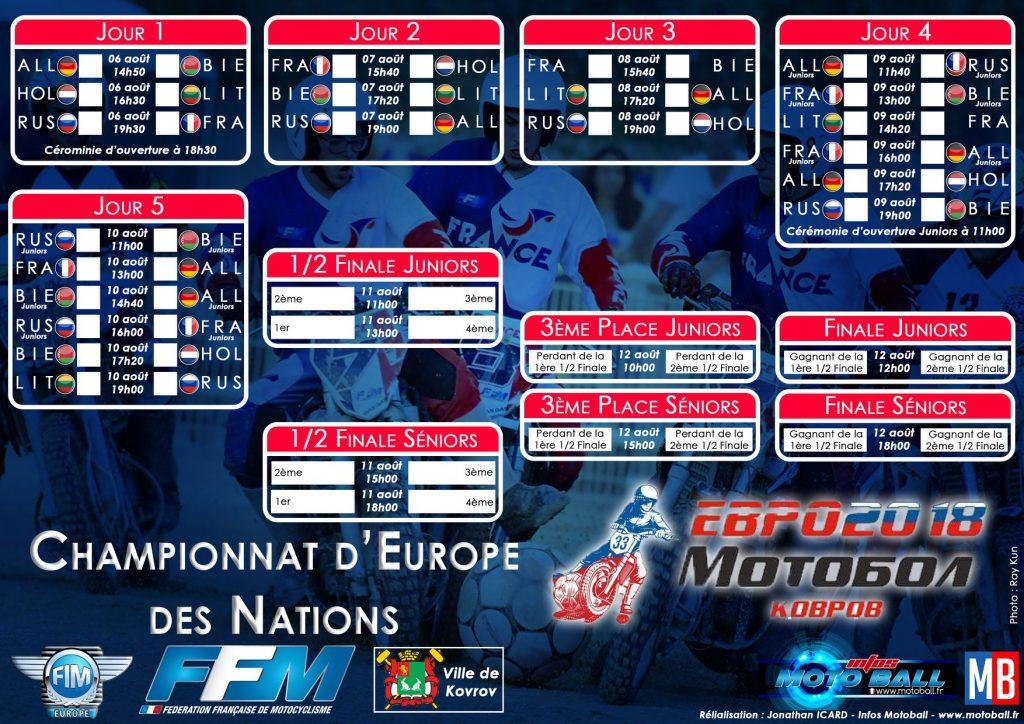 La Russie accueille (aussi) le CEN 2018 de moto-ball