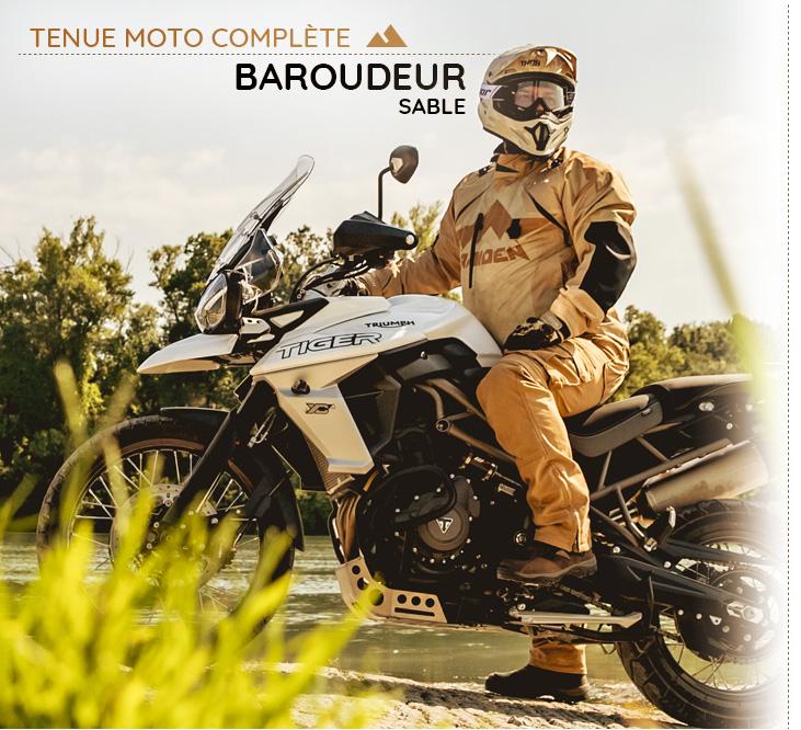Invitation au voyage avec la tenue moto baroudeur La Bécanerie