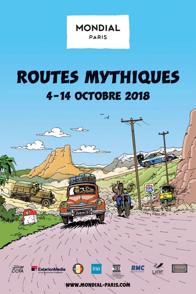 Mondial Paris : L'exposition « ROUTES MYTHIQUES »