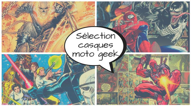 sélection casques moto geek