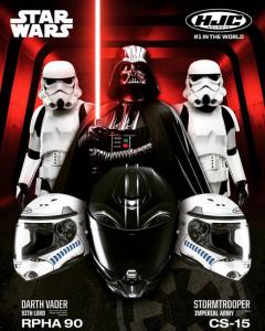 Casque intégraux HJC Star Wars Dark Vador et Stormtrooper