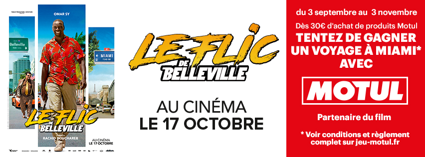 Le flic de Belleville - jeu concours MOTUL