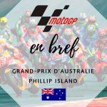 MotoGP : Viñales devant Iannone et Dovizioso à Phillip Island