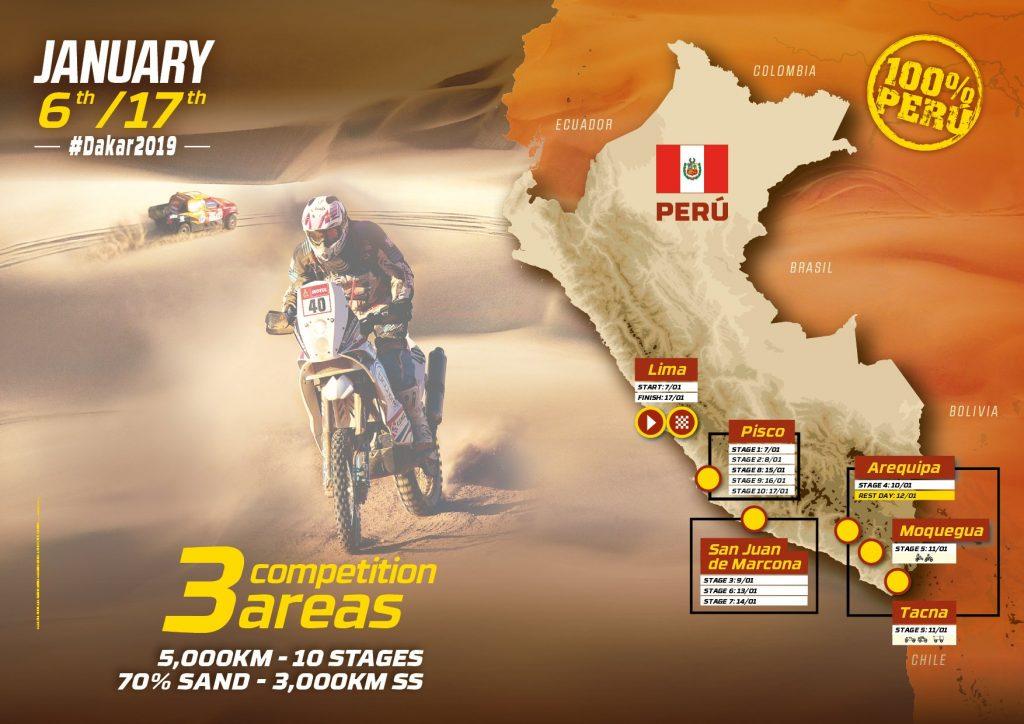 Dakar 2019 le parcours en détails
