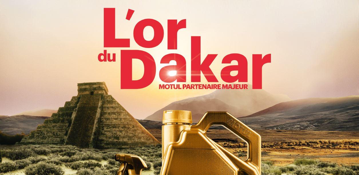 L'or du Dakar - concours Motul - La Bécanerie