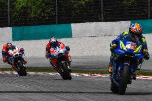MotoGP Sepang 2018 Alex Rins attaque