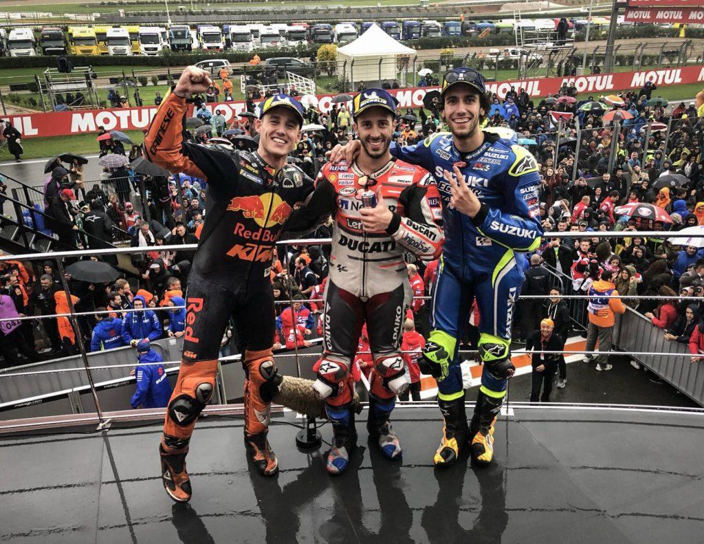 MotoGP Valence 2018 podium