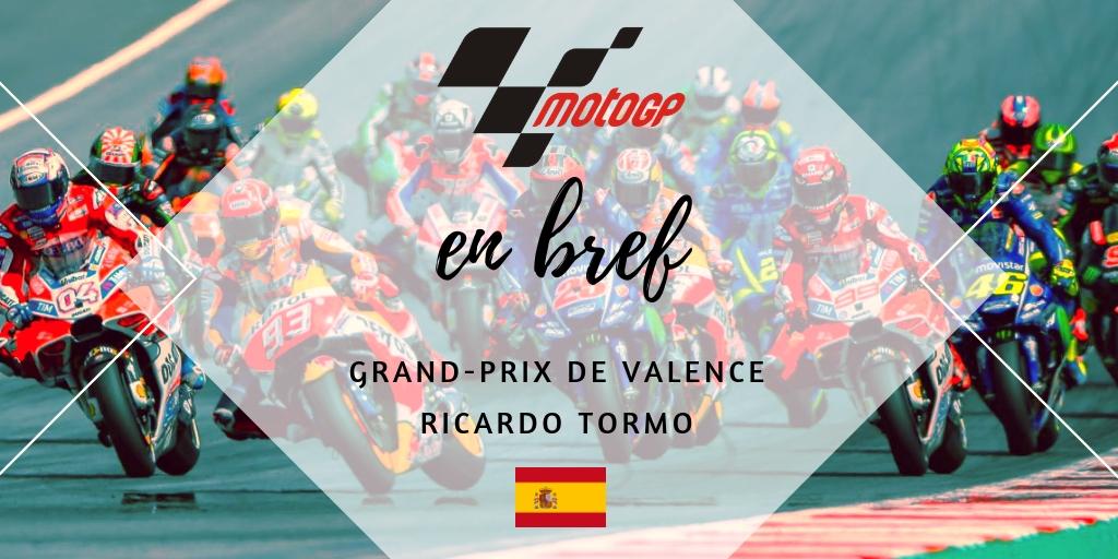 en bref MotoGP Valence 2018