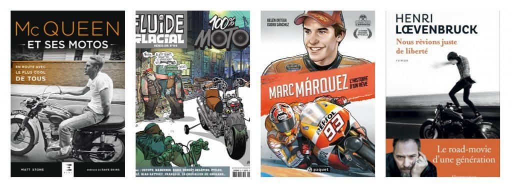 Idées cadeaux : livres moto
