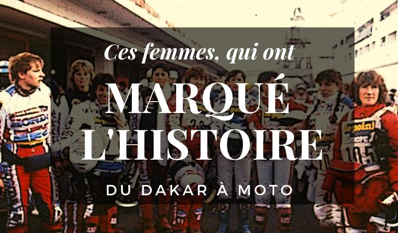 Les femmes qui ont marqué l'histoire moto du Dakar