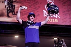 Dakar 2019 - arrivée de Xavier de Soultrait à Lima - ©photo Yamaha Racing