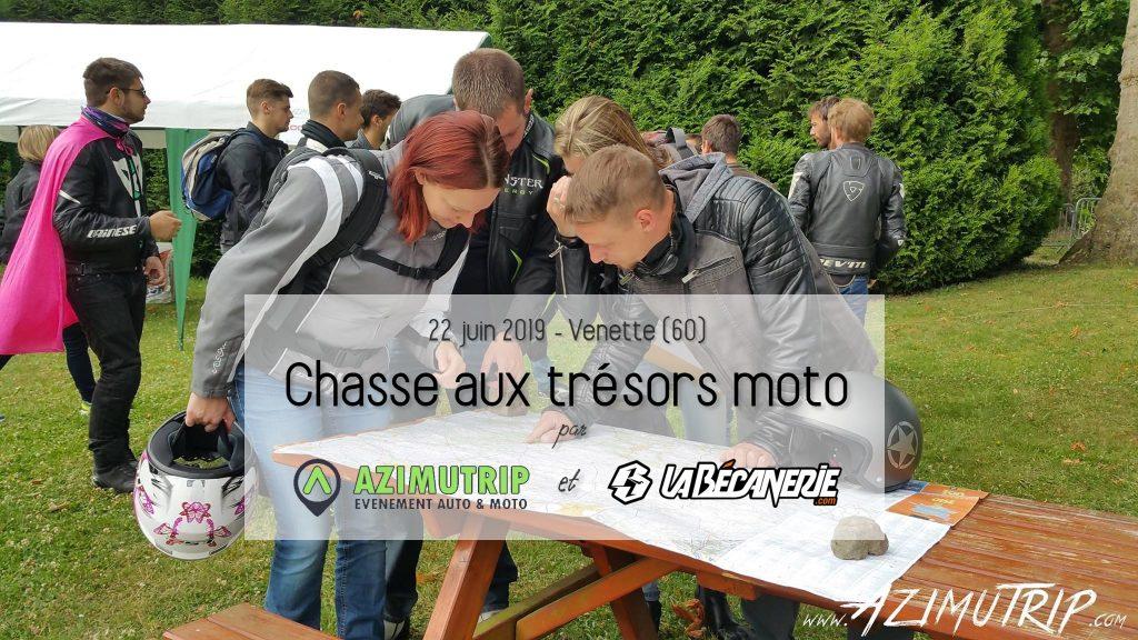 Chasse aux trésors moto Azimutrip et La Bécanerie