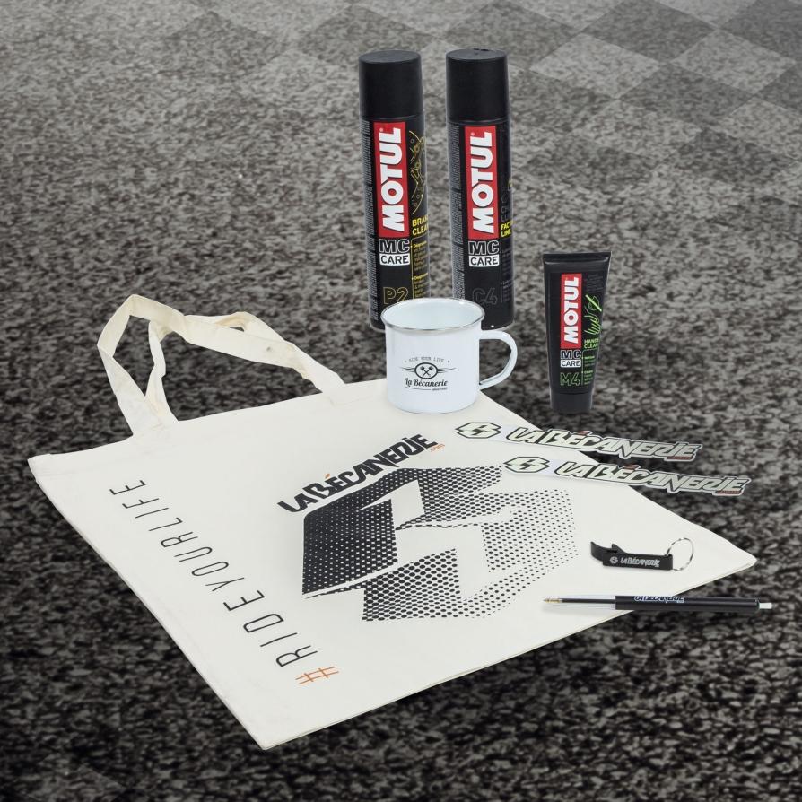 Goodies La Bécanerie et produits Motul pour la Women's Cup 2019 - Le Mans