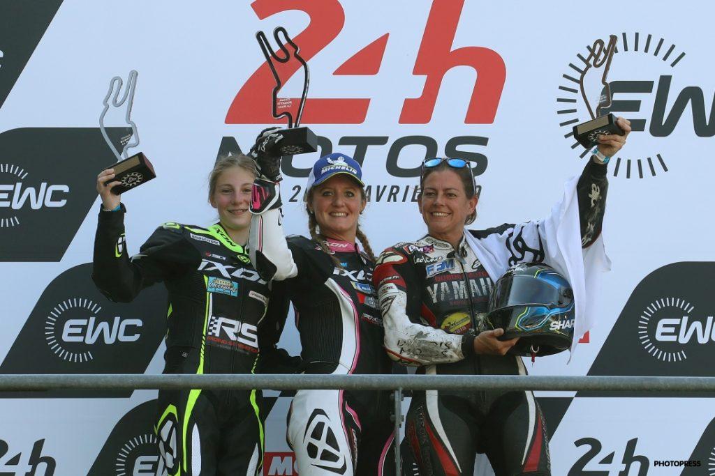 Women's Cup 2019 Le Mans podium 600cc