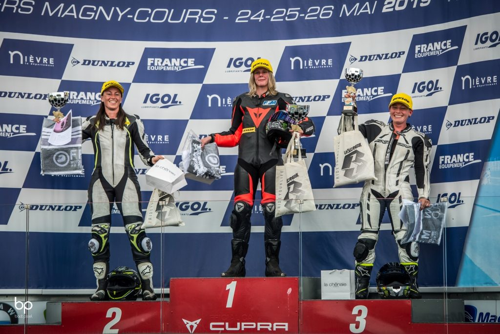 podium Women's Cup course 2 - Nevers Magny-Cours ©BackPixel