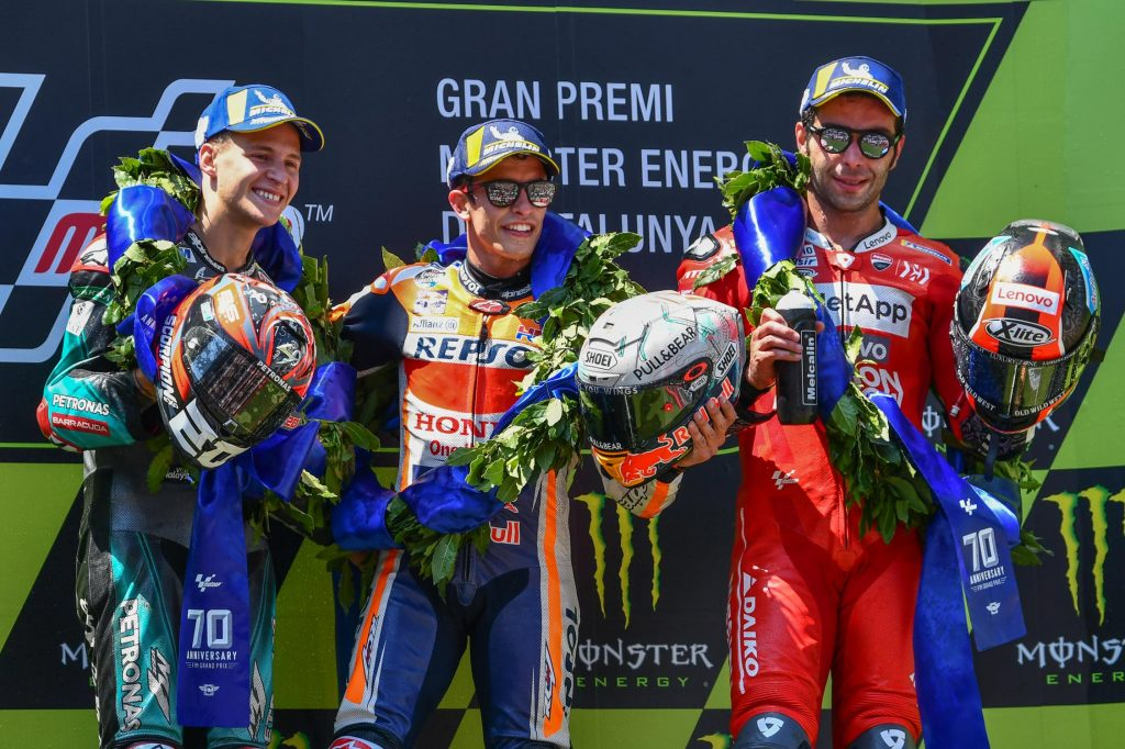 GP de Catalogne 2019 podium MotoGP ©motogp