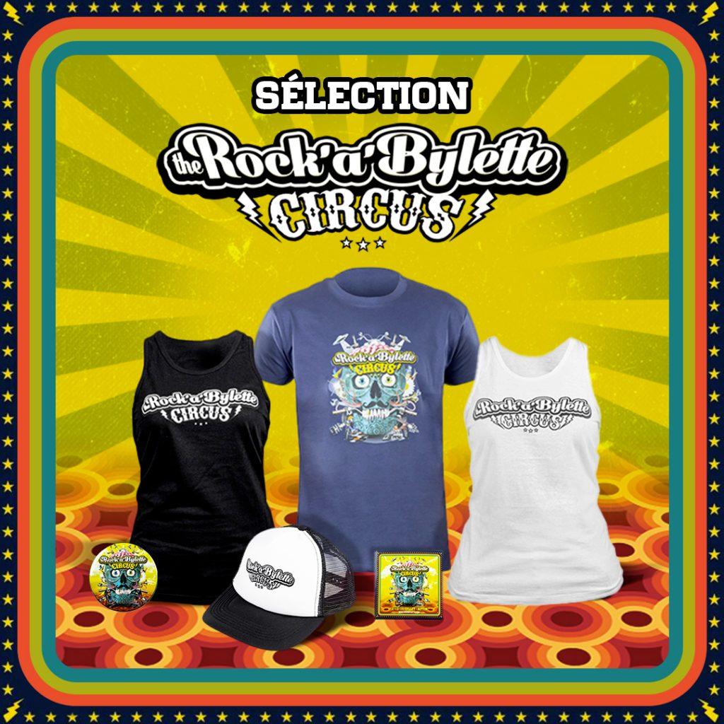 merchandising officiel Rockabylette CIrcus La Bécanerie