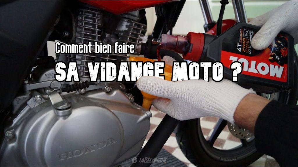 tuto vidange moto