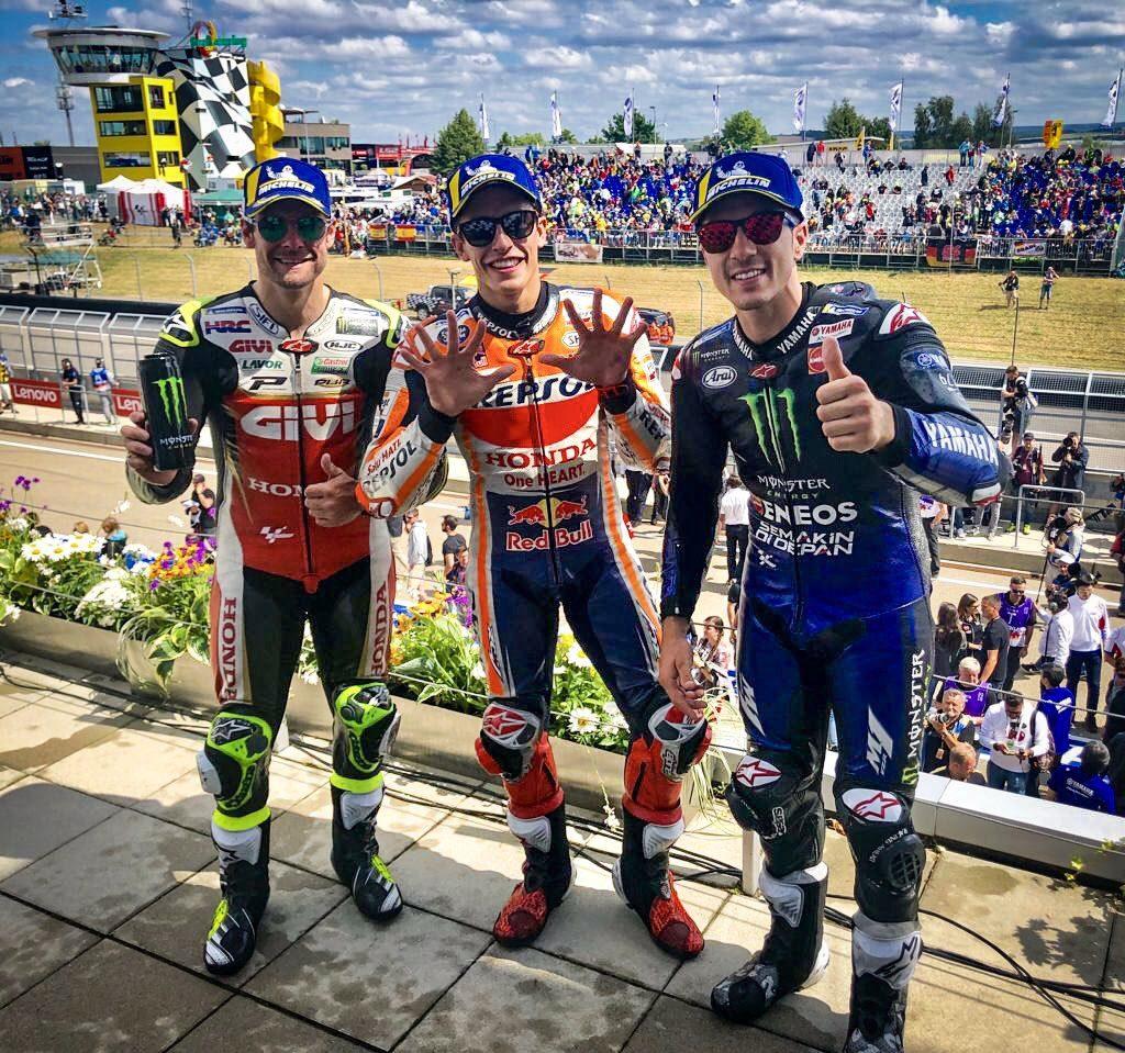 GP Allemagne 2019 podium MotoGP