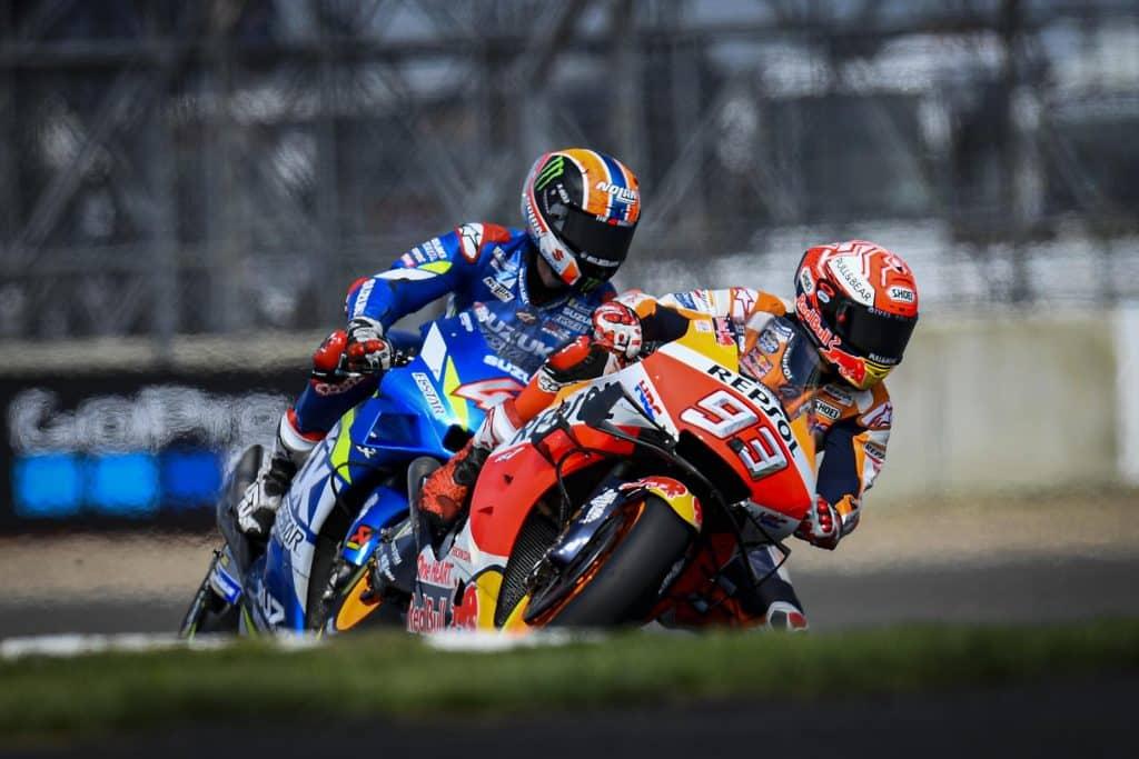 MotoGP Grande Bretagne 2019 Marquez et Rins