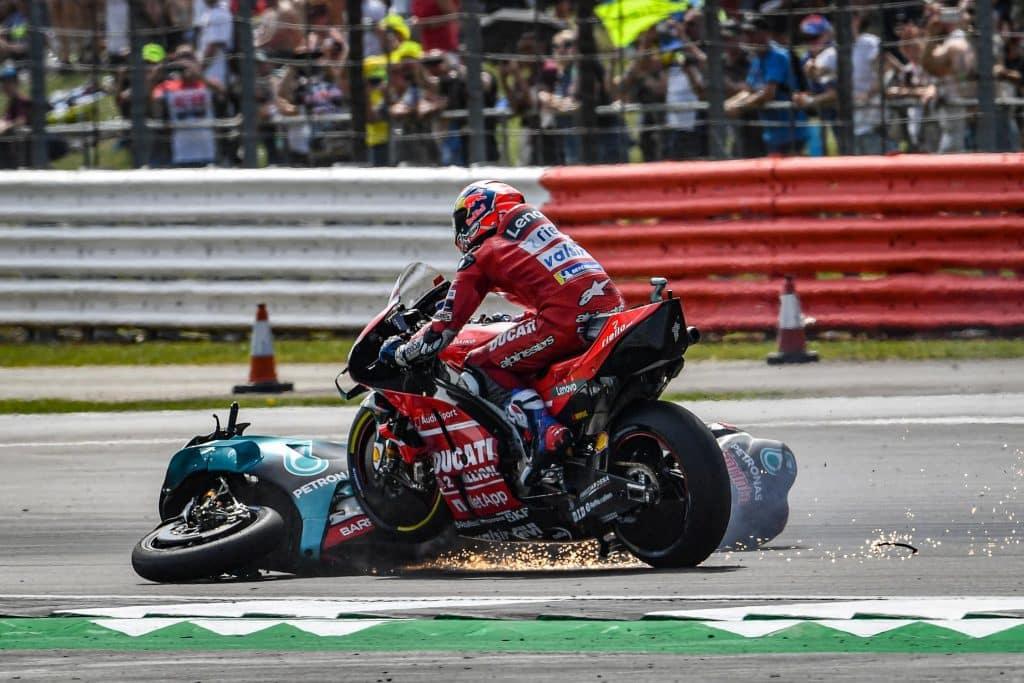 MotoGP Grande Bretagne 2019 crash