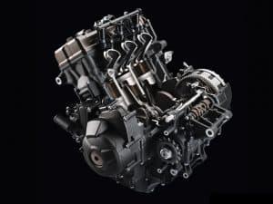 moteur de moto 3-cylindres