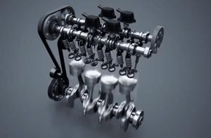 moteur de moto 4-cylindres en ligne