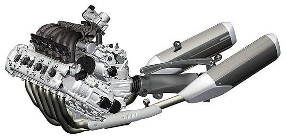 moteur de moto 6-cylindres en ligne