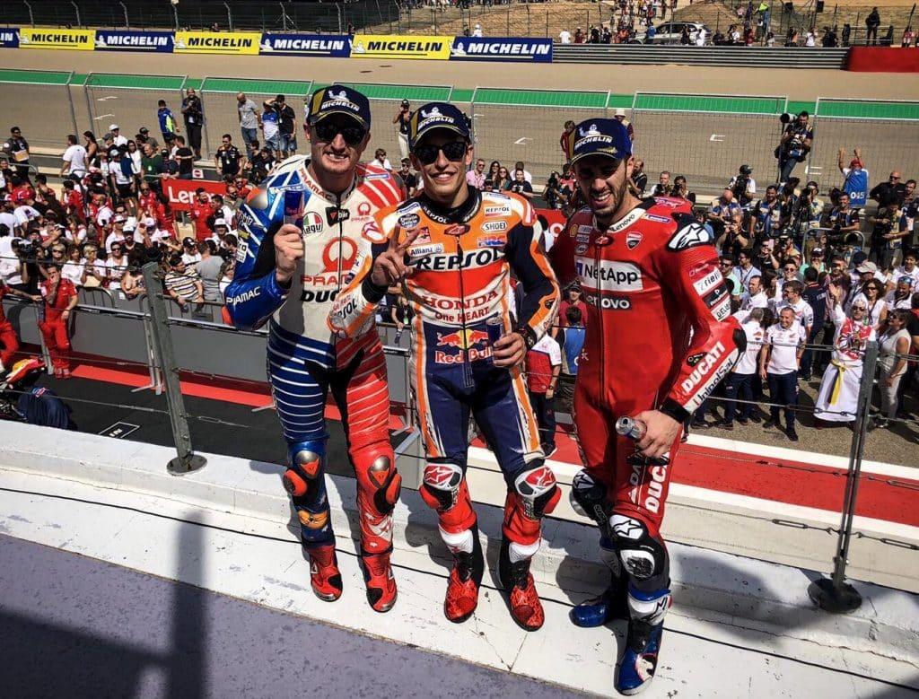 podium MotoGP Aragon 2019