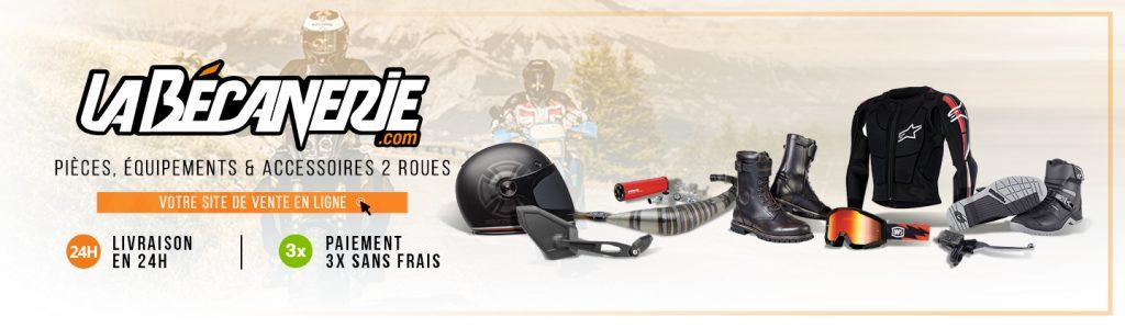 La Bécanerie site e-commerce de pièces et équipement moto