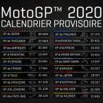 Calendrier provisoire MotoGP 2020 et liste des engagés