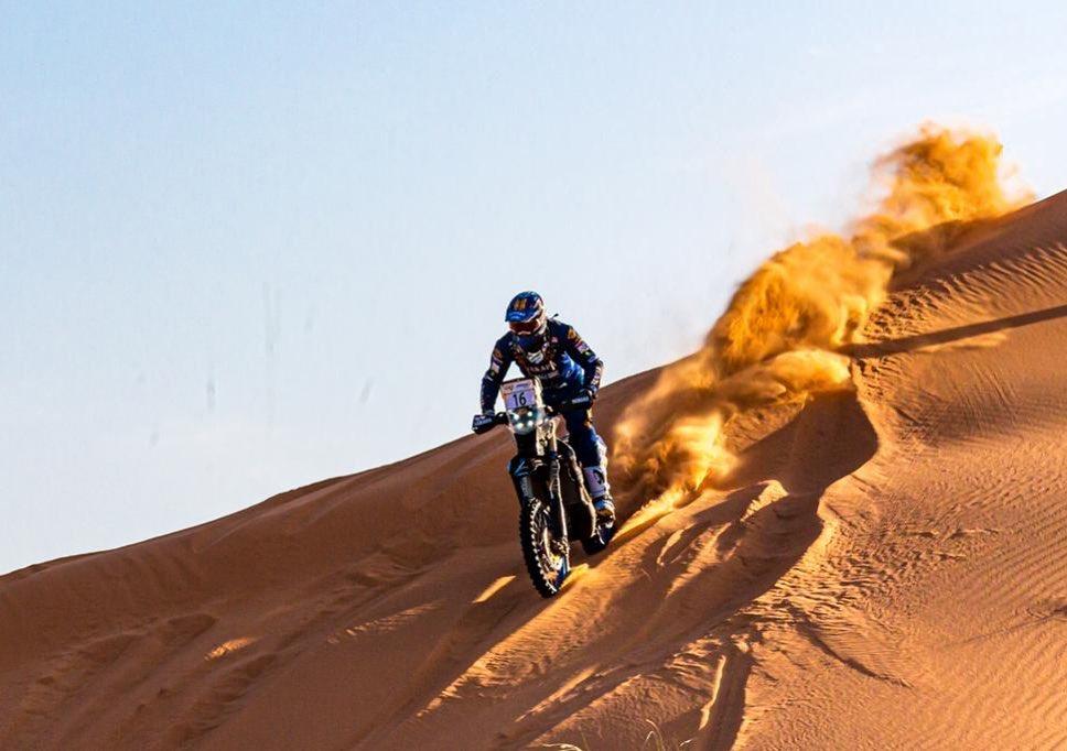 Xavier de Soultrait dans les dunes - rallye du Maroc 2019 ©shakedownteam