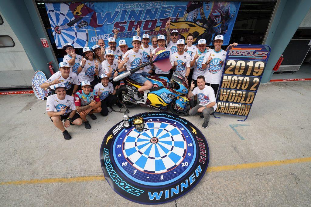 Alex Marquez champion du monde moto2