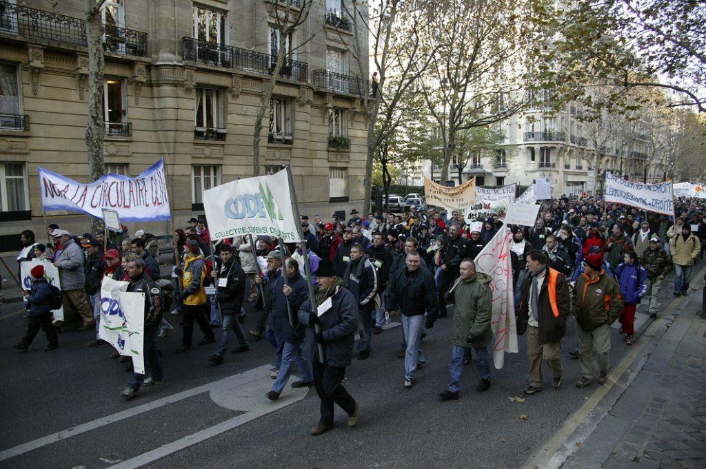Manifestation contre la circulaire Olin ©Codever